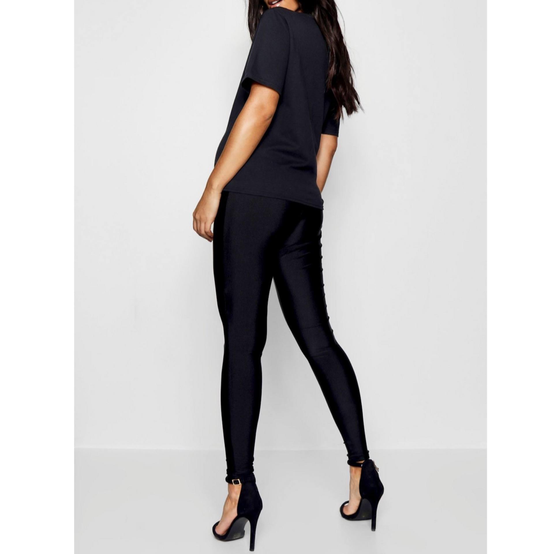 Maternity Shiny Leggings - Flamour.ro