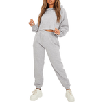 Light Grey Tracksuit - Flamour.ro