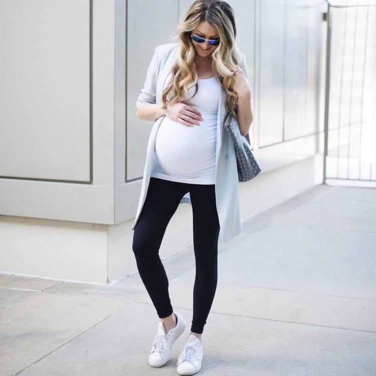 Maternity Navy Leggings - Flamour.ro