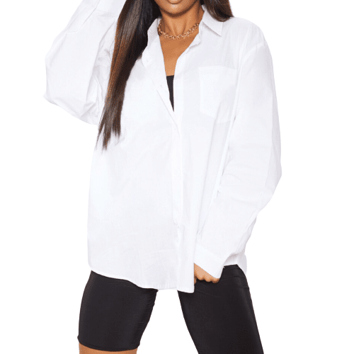 Oversized White Shirt - Flamour.ro