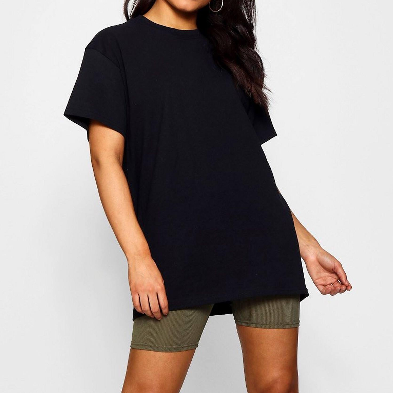 Black Oversized T-Shirt - Flamour.ro