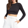 Black Cotton Crop Top