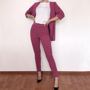 Plum Blazer & Pants SET - Flamour.ro
