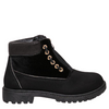 Black Velour Boots - Flamour.ro