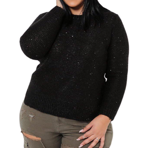 Black Sequins Pullover - Flamour.ro