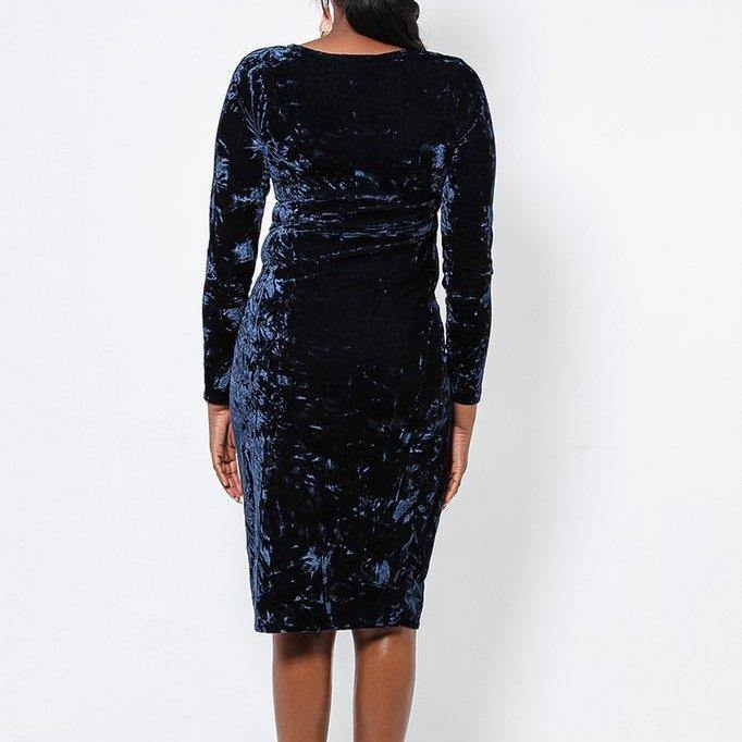 Crushed Velvet Dress - Flamour.ro