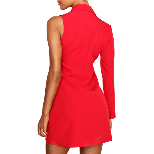 Red Blazer Dress - Flamour.ro