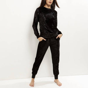 Crushed Velvet Tracksuit - Flamour.ro