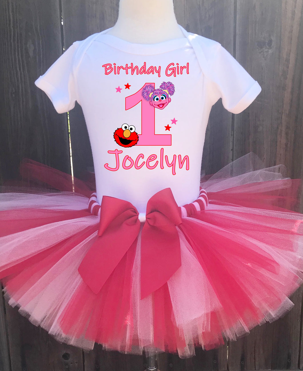 Abby Cadabby And Elmo  Birthday Tutu Outfit-Sesame Street