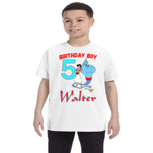 Load image into Gallery viewer, Aladdin And Genie Birthday Shirt Boys