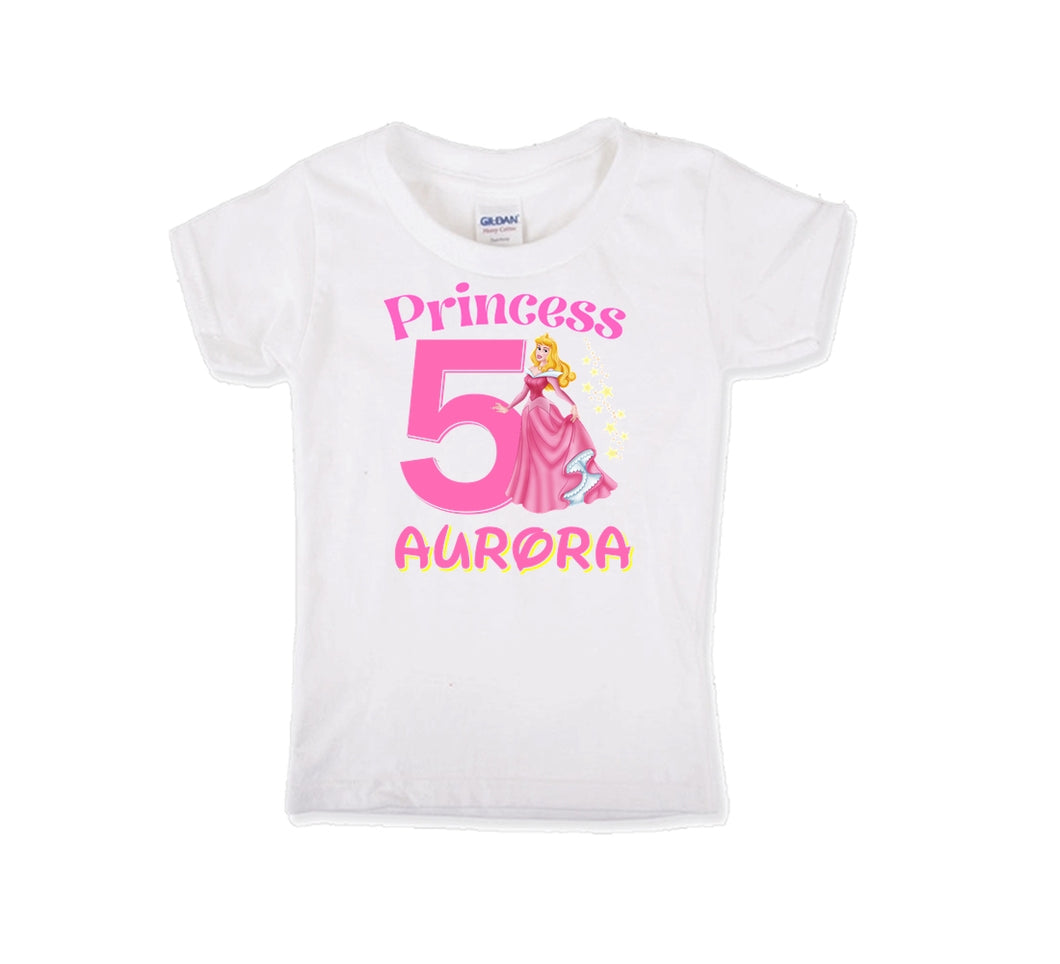 Sleeping Beauty Aurora Personalized Birthday Shirt Girls-Disney Princess