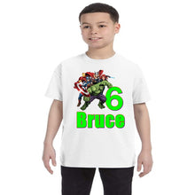 Load image into Gallery viewer, Avengers Personalized Birthday Shirt Boys-Superhero