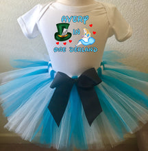 Load image into Gallery viewer, Alice In Wonderland Birthday Tutu Outfit