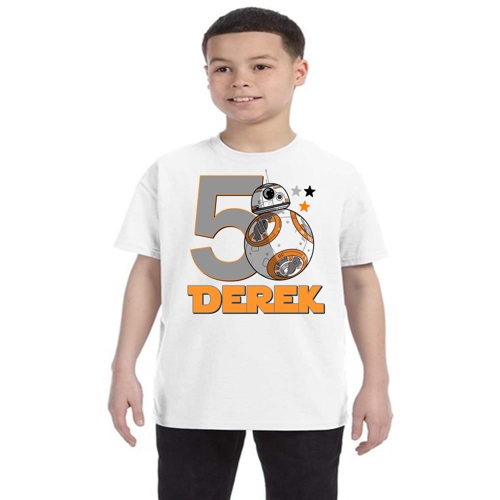Star Wars BB8 Birthday Shirt Boys