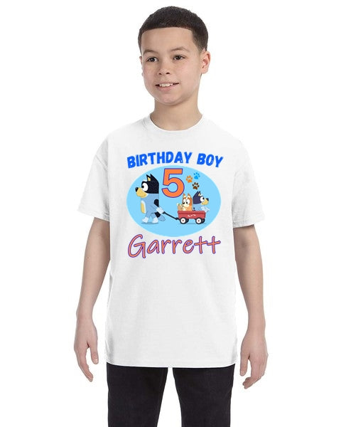 Bluey Birthday Shirt Boys