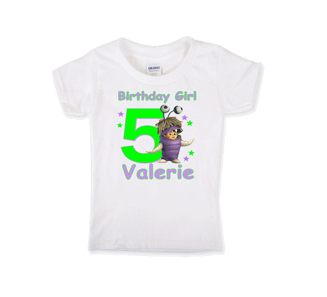 Monsters Inc Boo Birthday Shirt Girls-Pixar