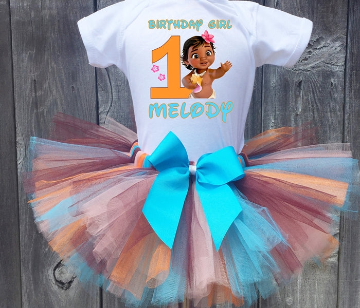 Baby Moana Birthday Tutu Outfit-Disney Princess