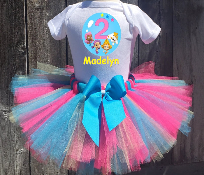 Bubble Guppies Oona, Molly, And Deema Customized Birthday Tutu Outfit-Dress