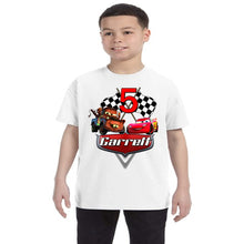Load image into Gallery viewer, Cars Lightening McQueen and Tow Mater Personalized Birthday Shirt Boys-Pixar