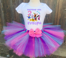 Load image into Gallery viewer, Minnie Mouse/ Mickey Mouse Clubhouse Birthday Tutu Outfit