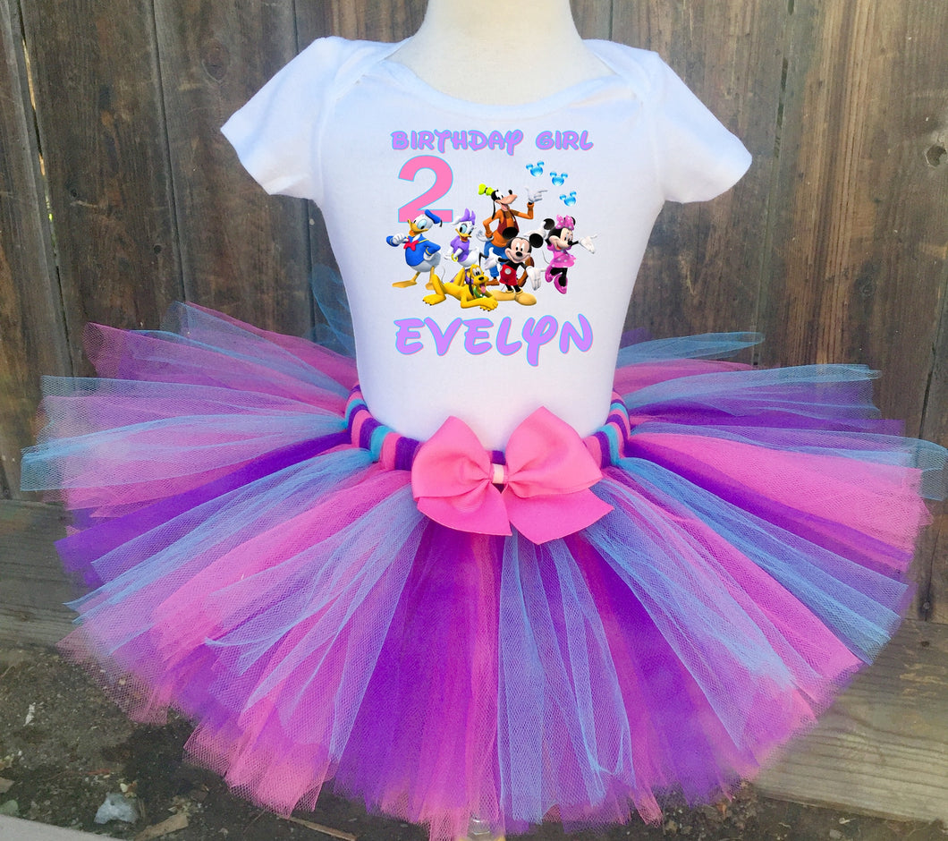 Minnie Mouse/ Mickey Mouse Clubhouse Birthday Tutu Outfit