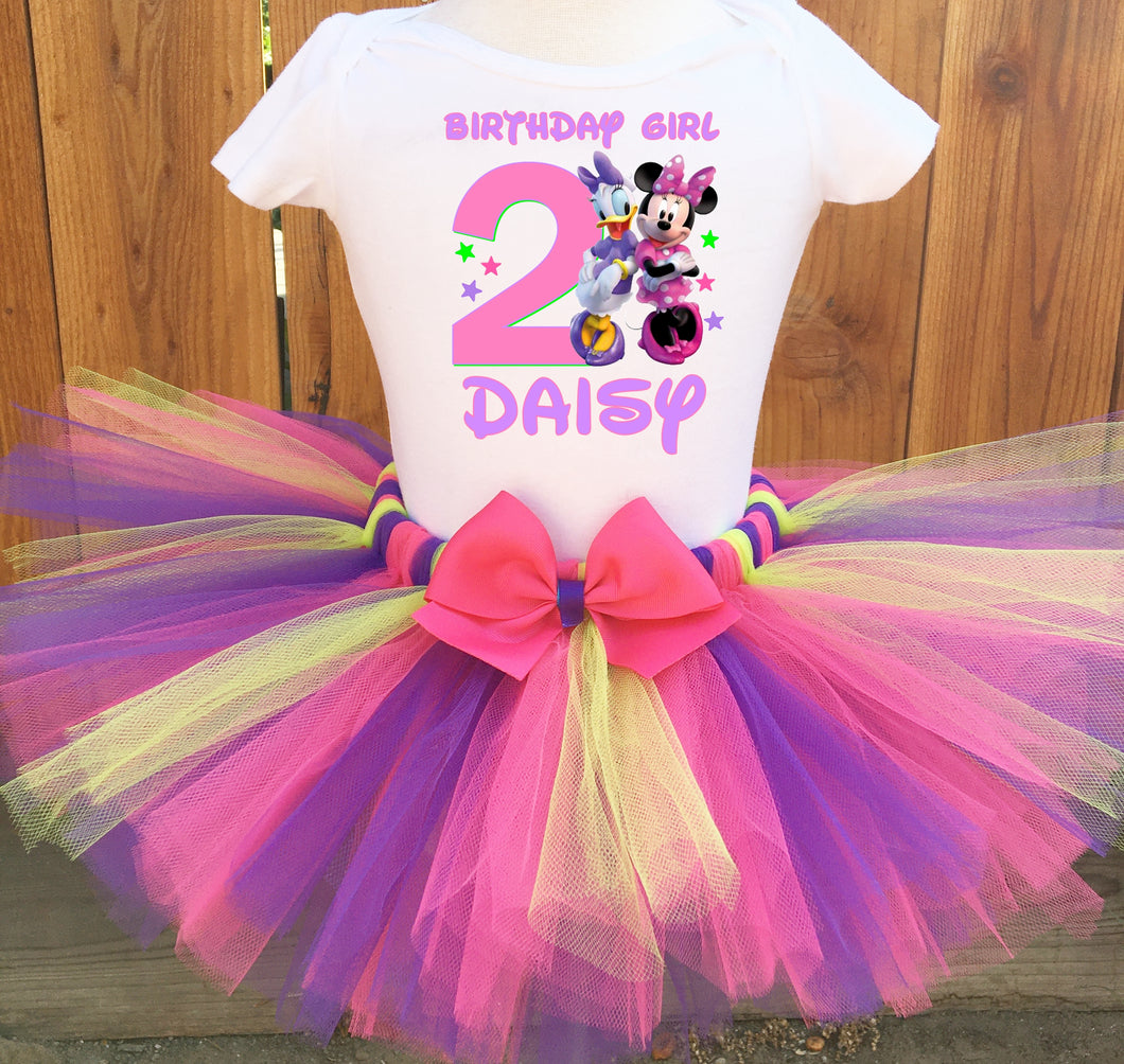 Minnie Mouse And Daisy Duck Customized Birthday Tutu Outfit