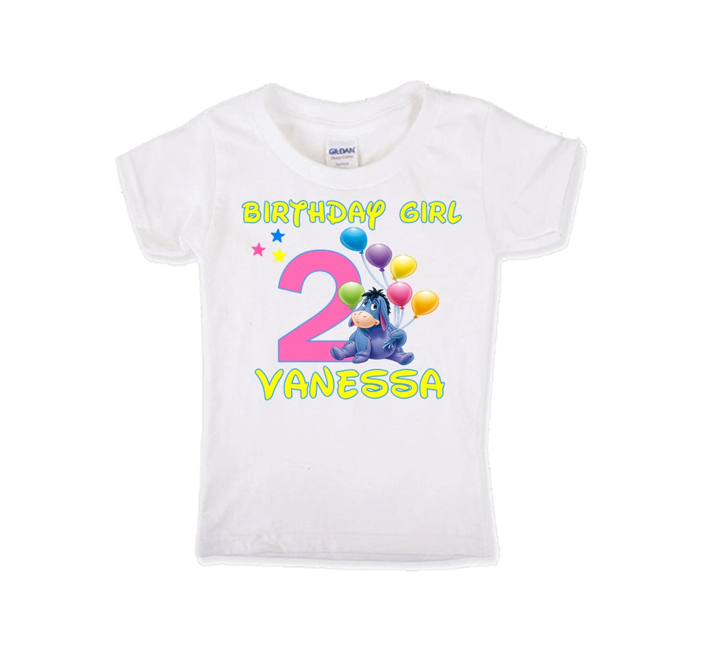 Eeyore  Birthday Shirt Girls