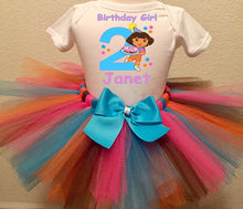 Load image into Gallery viewer, Dora The Explorer Birthday Tutu Outfit-Dress