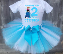 Load image into Gallery viewer, Frozen Anna And Elsa Customized Birthday Tutu Outfit-Disney Princess