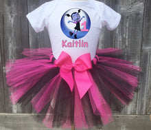 Load image into Gallery viewer, Vampirina Customized Pink and Black Birthday Tutu Outfit-Dress