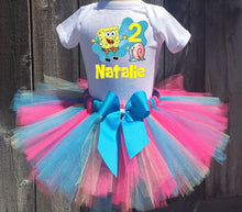 Load image into Gallery viewer, Spongebob Squarepants And Gary Customized Birthday Tutu Outfit-Dress