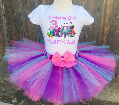 Group Trolls Customized Birthday Tutu Outfit