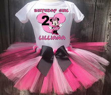Load image into Gallery viewer, Minnie Mouse Customized Birthday Tutu Outfit