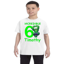 Load image into Gallery viewer, Incredible Hulk Personalized Birthday Shirt Boys-Superhero