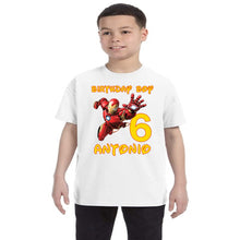 Load image into Gallery viewer, Iron Man Birthday Shirt Boys-Superhero
