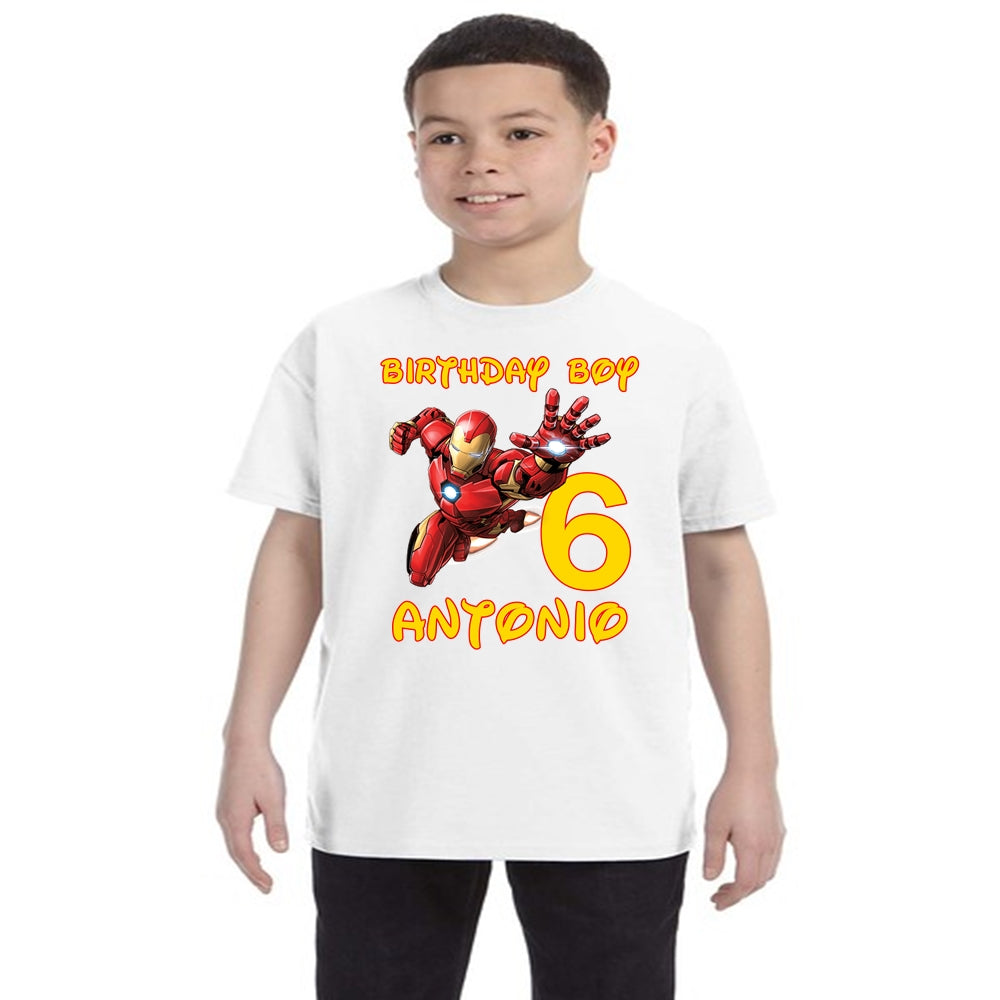 Iron Man Birthday Shirt Boys-Superhero