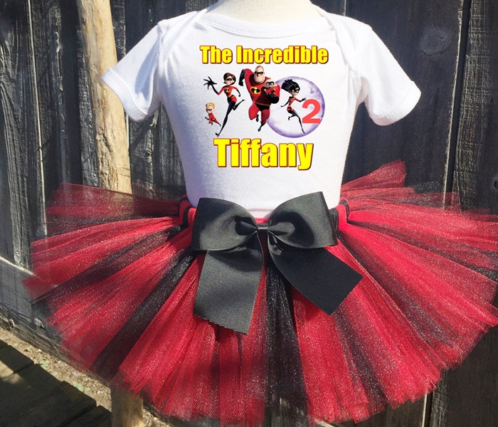 The Incredibles Family Birthday Tutu Outfit-Pixar