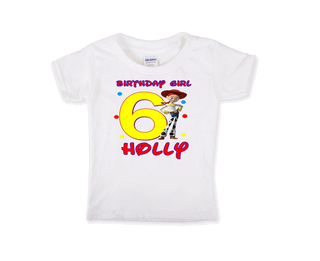 Toy Story Jesse  Birthday Shirt Girls-Pixar