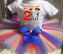 Load image into Gallery viewer, Toy Story Jesse And Woody Customized Birthday Tutu Outfit-Pixar