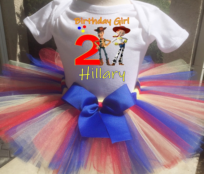 Toy Story Jesse And Woody Customized Birthday Tutu Outfit-Pixar