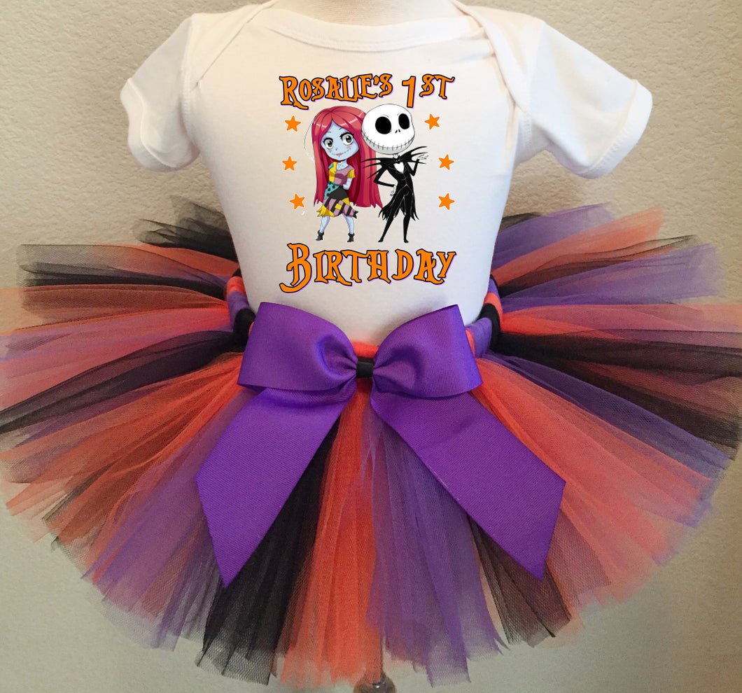 Nightmare Before Christmas  Birthday Tutu Outfit-Dress