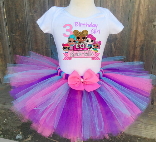 LOL Surprise Birthday Tutu Outfit Dress Set