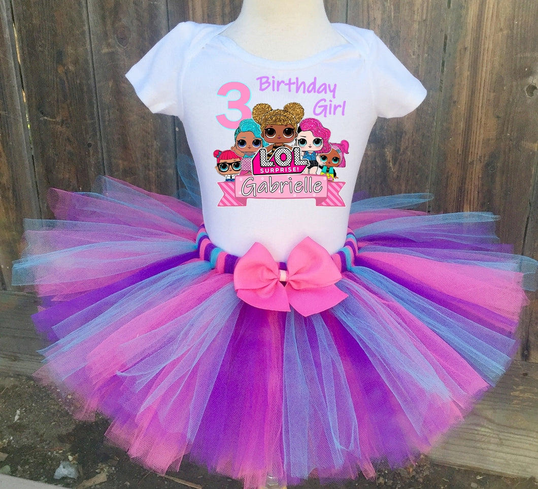 LOL Surprise Customized Birthday Tutu Outfit-Dress