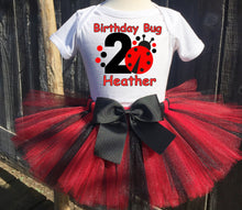 Load image into Gallery viewer, Red Ladybug  Birthday Tutu Outfit-Dress