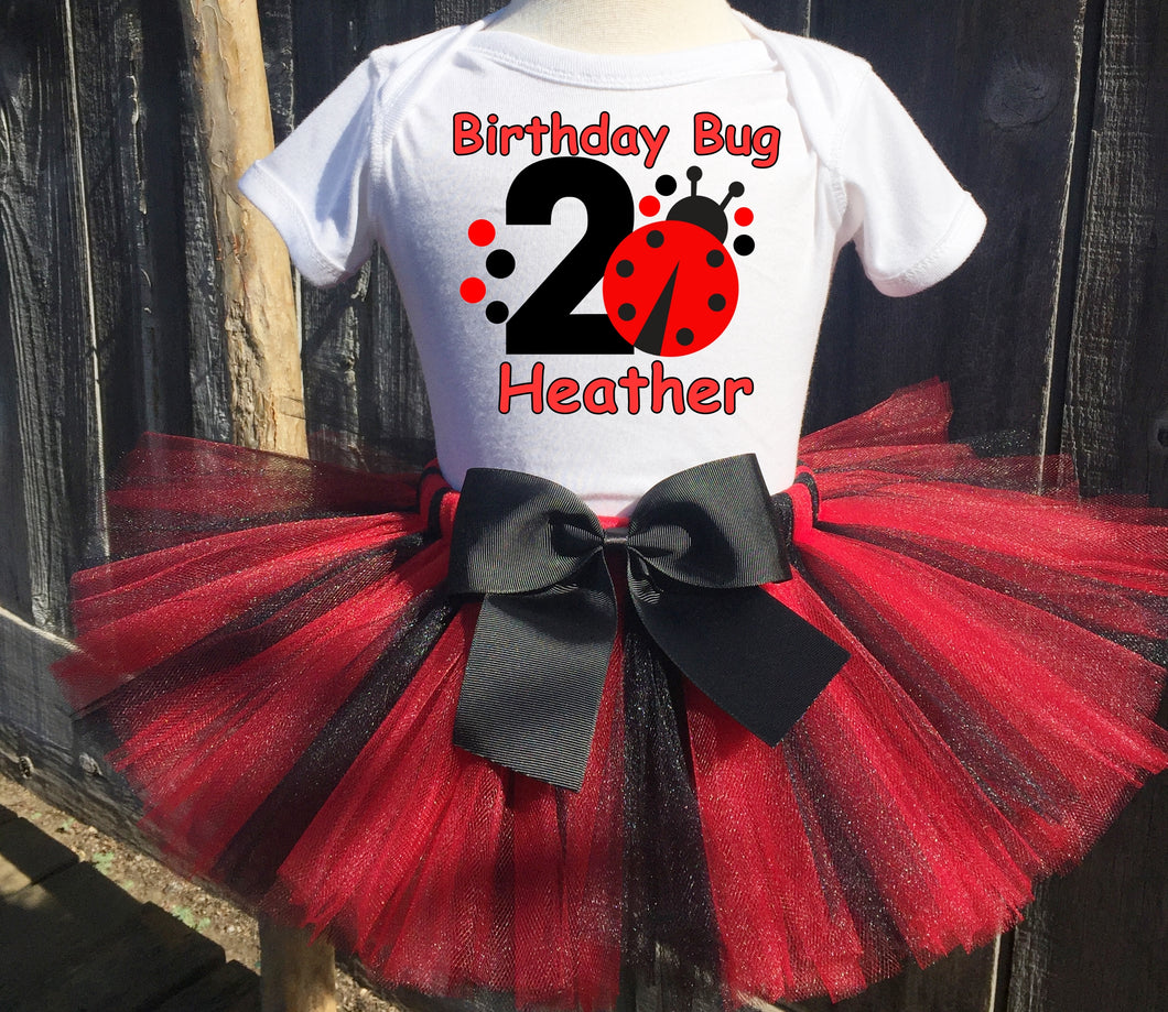 Red Ladybug  Birthday Tutu Outfit-Dress