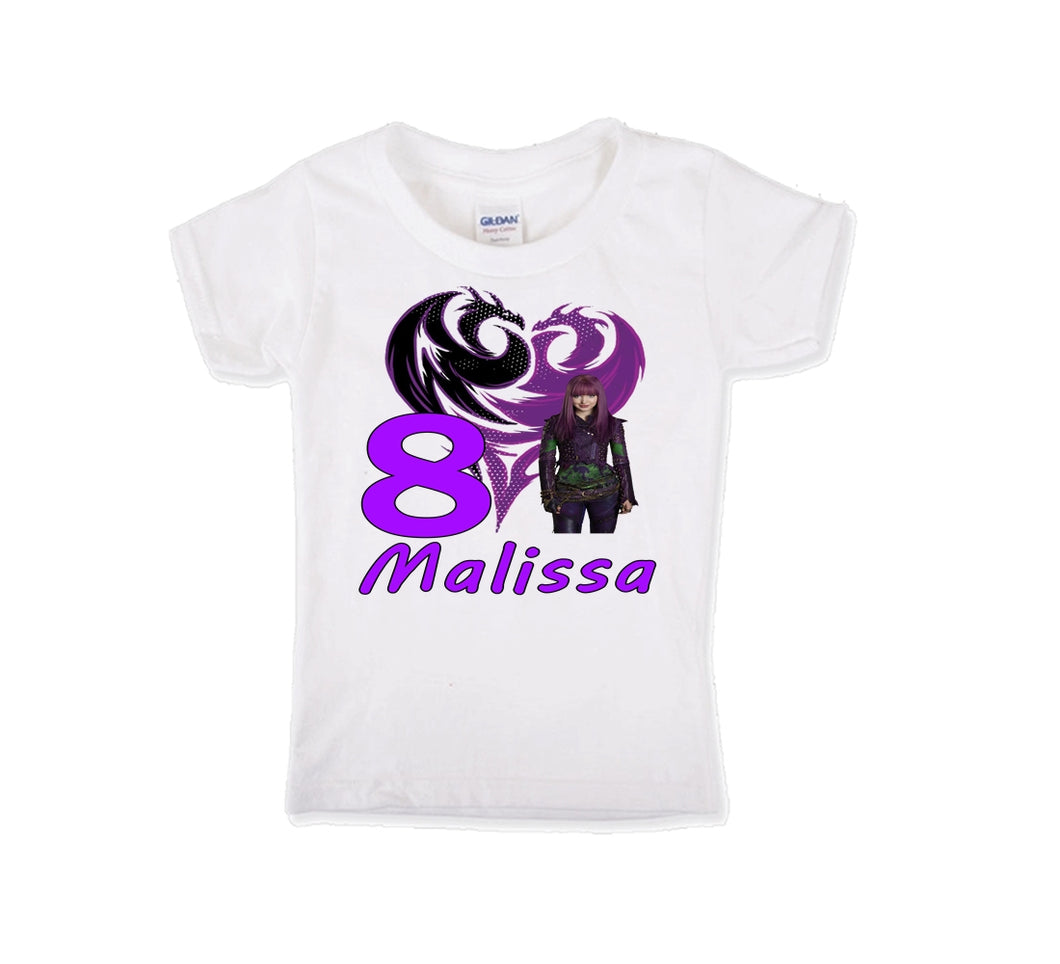 Descendants Mal Birthday Shirt Girls