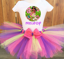 Load image into Gallery viewer, Moana And Pua Birthday Tutu Outfit-Disney Princess