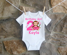 Load image into Gallery viewer, Monkey Birthday Shirt Girls