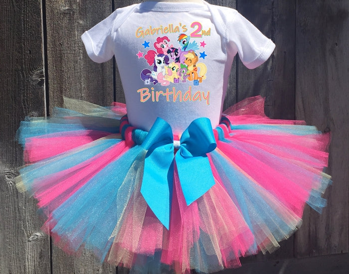 My Little Pony Group  Birthday Tutu Outfit-Dress