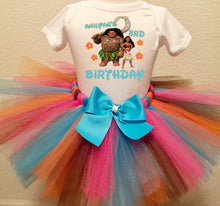 Load image into Gallery viewer, Maui And Moana Customized Birthday Tutu Outfit-Disney Princess